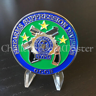 C32 New York Firearms Suppression Division Police OCCB challenge coin