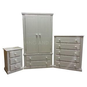 hand made dewsbury furniture 3 piece bedroom set white