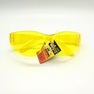 Forney Starlite Safety Glasses Yellow Amber 55329 Uv Protection Durable Work New