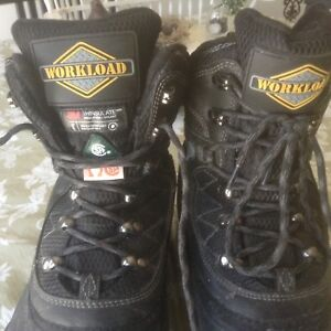 Size 11 work boots worn once $25.00