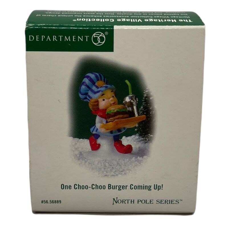 Department 56 North Pole Series One Choo-Choo Burger Coming up! - Retired 2005