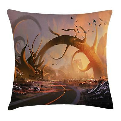 Retro Fantasy Throw Pillow Cases Cushion Covers Ambesonne Ho