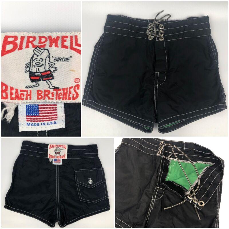 Vintage 90s KIDS Birdwell Beach Britches USA Swimwear Board Shorts Retro Girls