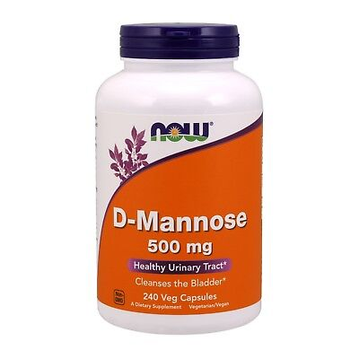 NOW Foods D-Mannose 500 mg 240 Veg Capsules FREE SHIPPING. MADE IN USA D-mannose 500 Mg Capsule