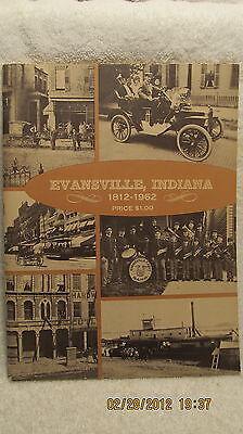 Vintage Book History of Evansville, Indiana 1812-1962 Vintage Photos & Ads