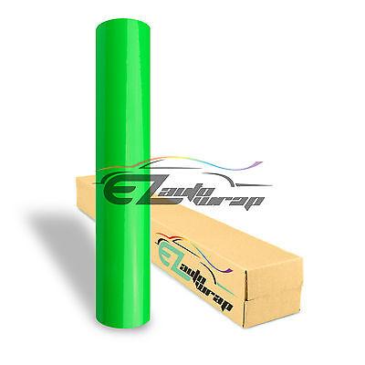 36x39 Fluorescent Green Vinyl Self Adhesive Decal Plotter Sign Sticker Film
