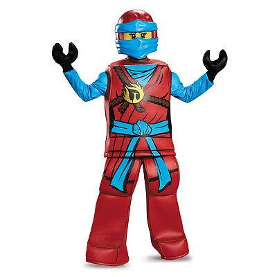 Ninjago Nya Halloween Costumes (NEW Licensed Lego Red Ninjago NYA Girl Complete Prestige Halloween Costume)