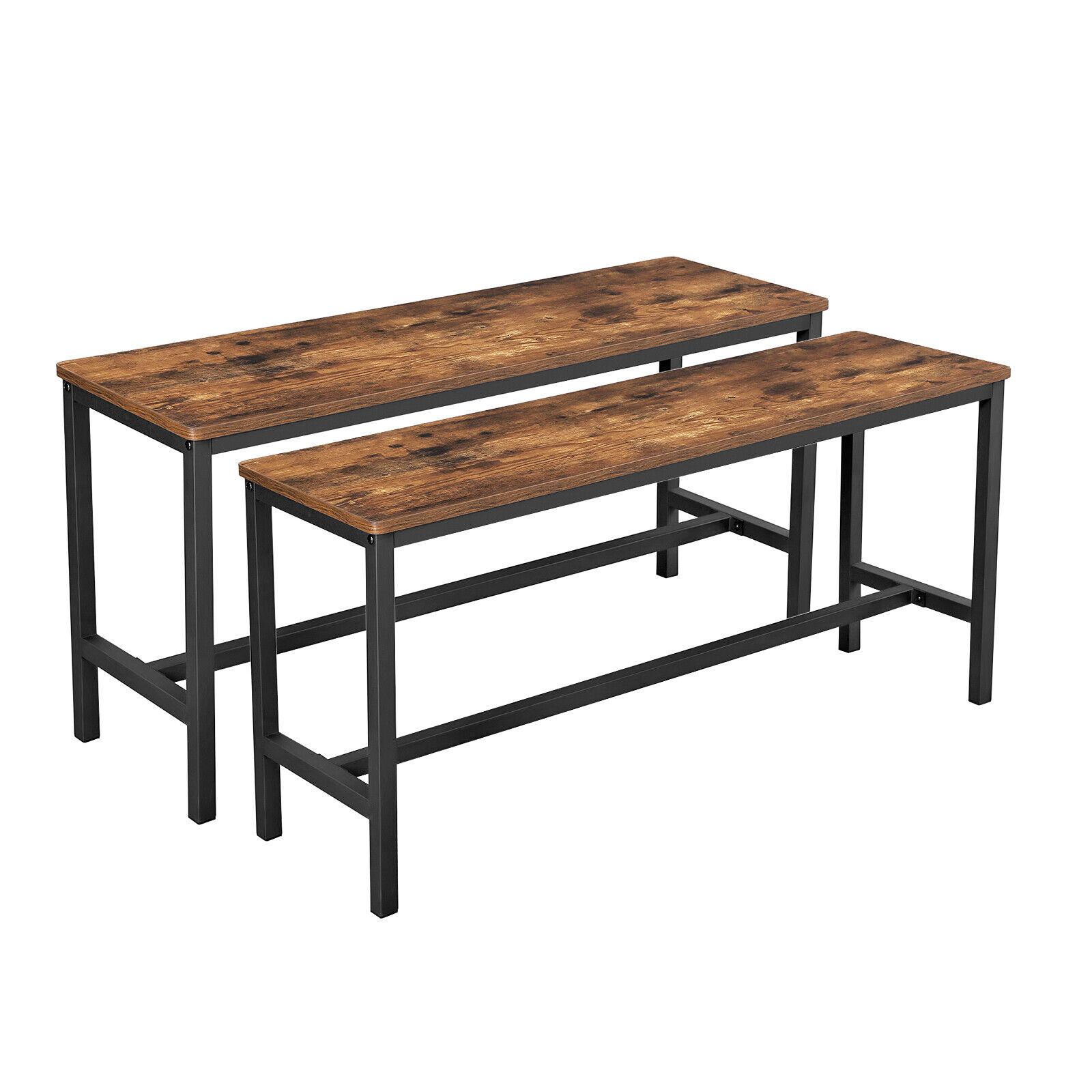 VASAGLE Sitzbänke für Esszimmertisch 2er Set Küchenbänke Esstischbänke KTB33X