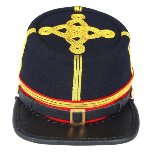 US Civil War Union Artillery Major/Colonel Leather Peak Kepi