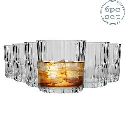 Duralex Manhattan Vintage Whisky Whiskey Rocks Tumblers Glasses 310ml x6