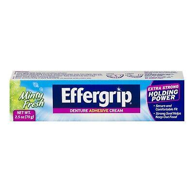 Effergrip Extra Strong Denture Adhesive Cream Minty Fresh 2.5 oz Effergrip Denture Adhesive Cream