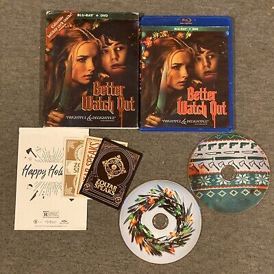 Better Watch Out (Blu Ray, DVD, 2016) w/ Slipcover and (Best Business Christmas Cards)