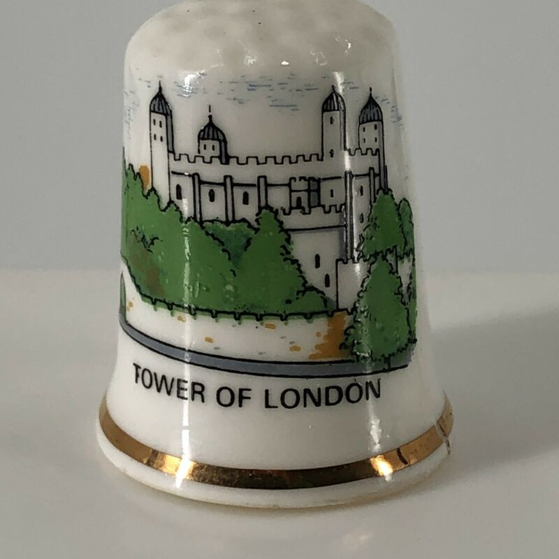 Tower of London Souvenir Fine Bone China Thimble - *Flaw