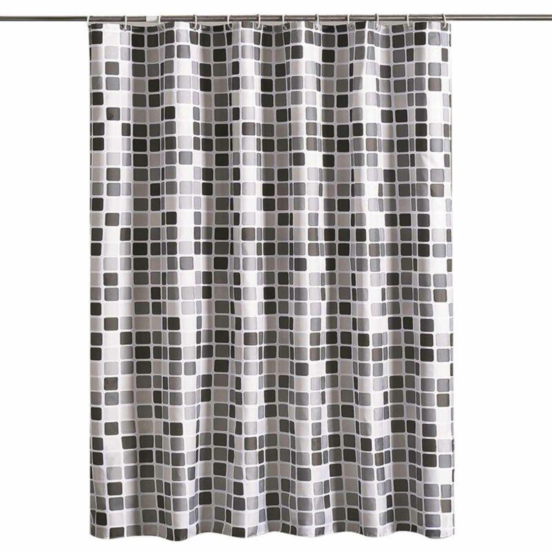 Waterproof Bathroom Shower Curtain Fabric Mosaic Extra Long Wide Drop 200*220cm