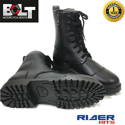 CLEARANCE BOLT R50 MOTORBIKE BOOTS POLICE BOOTS COMBAT MILITARY SHOES WATERPROOF](Clearance Combat Boots)