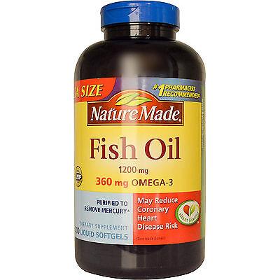 Nature Made Fish Oil 1200MG 360 mg Ultra Omega-3    200 CT softgels