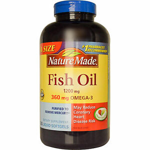 Nature made fish oil 1200mg 360 mg ultra omega 3 200 ct for Nature made fish oil 1200 mg 360 mg omega 3