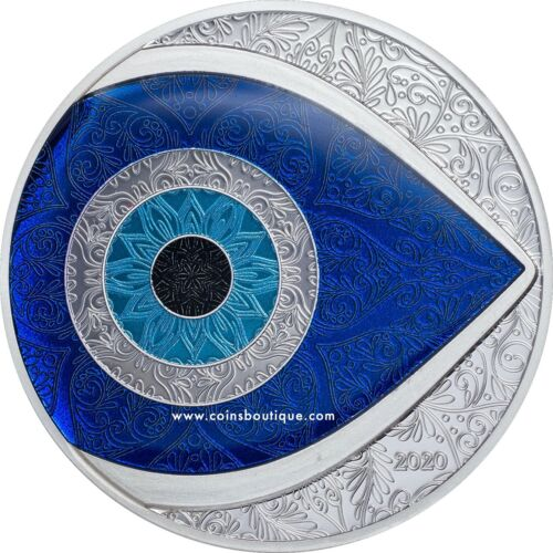THE EVIL EYE 1 oz Proof Silver Coin Palau 2020