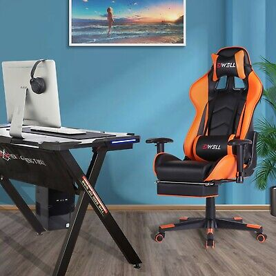 Computer Gaming Chair Ergonomic Office Chair Work Swivel Chair Recliner Leather