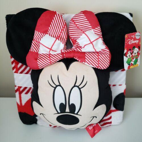 Disney Nogginz Plush Pillow & Travel Blanket Set Minnie Mouse 45x55 inches New