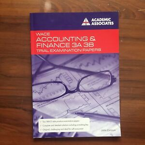 WACE Accounting & Finance 3AB Trial examination papers Canning Vale Canning Area Preview