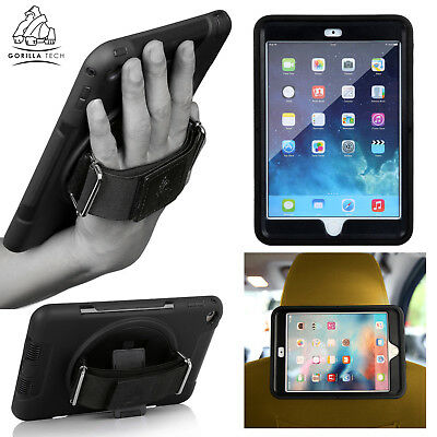 Gorilla Tech Handstrap Case Protective Shockproof Cover Best for Apple iPad (Best Rotating Ipad Air Case)