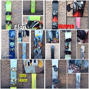 Snowboards FOR SALE 125cm to 160cm