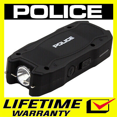 Police Stun Gun Mini Black 1901 550 Bv Rechargeable Led Flashlight