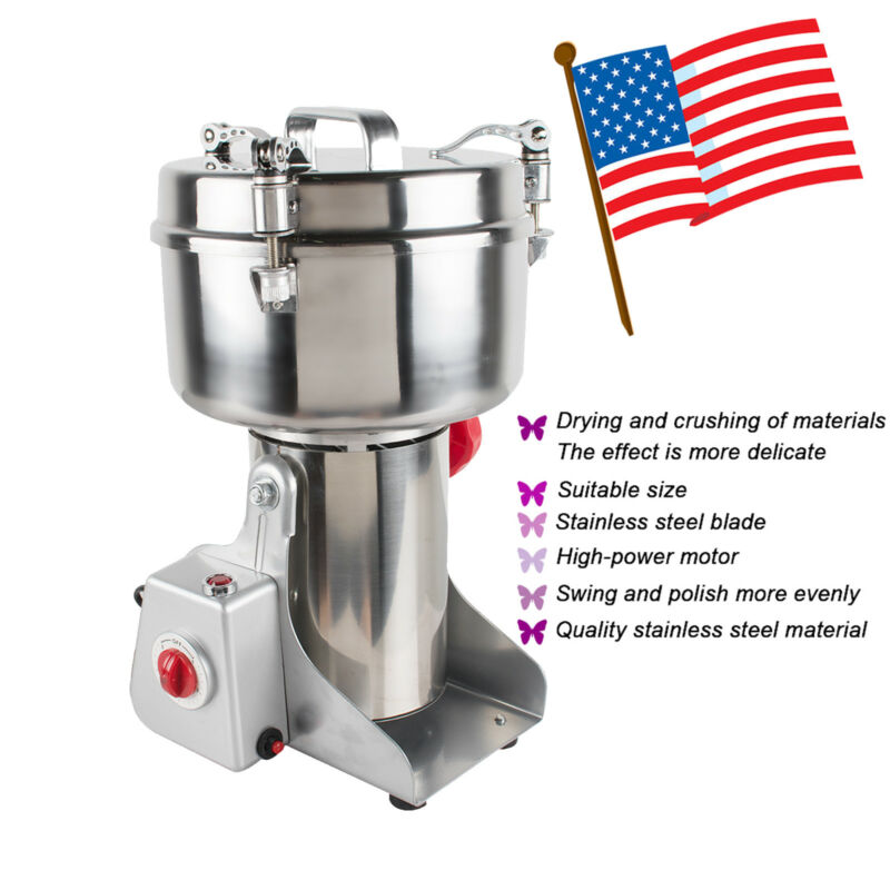 3800W Automatic continuous Hammer Mill Herb Grinder,hammer grinder,pulverizer US