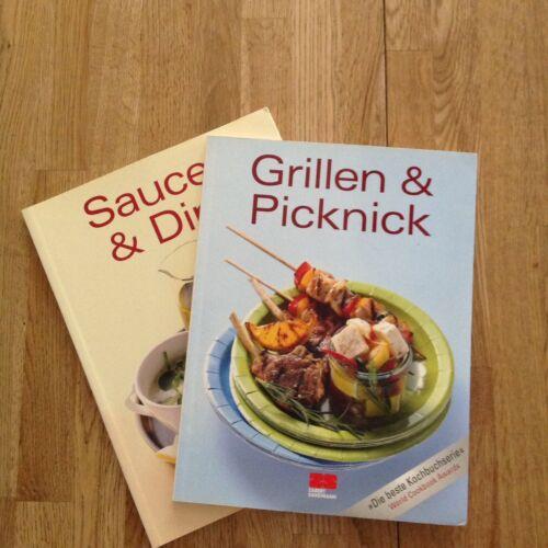 Kochbücher 2 Stück Grillen & Picknick Saucen & Dips Neuwertig Wichtelgeschenk