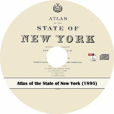 1895 Atlas of the State of New York - NY History Maps Book on CD