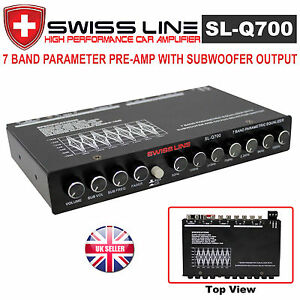SWISS LINE SL-Q700 7 Band Pre Amplifier Equalizer Preamp Car Amplifier