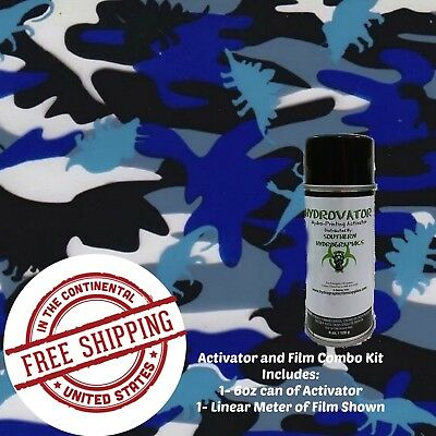Hydrographic Water Transfer Hydro Dip Kit 6 Oz Activator Dino Camo Film 1m
