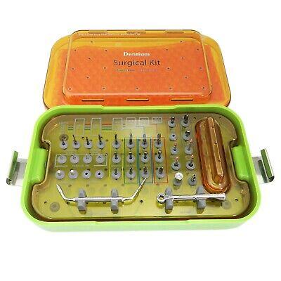 Dental Dentium Surgical Instrument Kit Drill Stopper Ratchet Driver Countersink