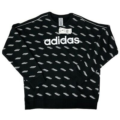 Adidas Originals Favorites Men's Crewneck Sweater In Black And White Size XL NWT