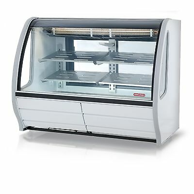 Torrey 56 Prokold Curved Glass White Deli Bakery Display Case Refrigerated