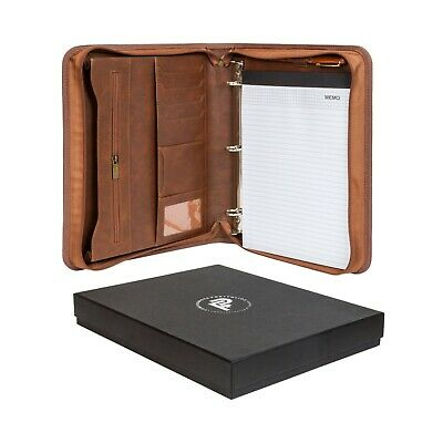 Forevermore Zippered Portfolio Padfolio Removable 3 Ring Binder Refurbished