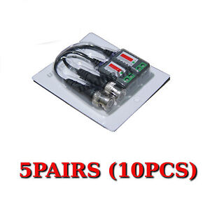10pcs Passive Pigtail Video Balun Coaxial BNC to UTP Cat5 Cable for CCTV Camera