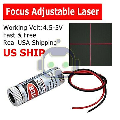 Focusable 5mw 650nm Red Cross Line Laser Module Focus Adjustable Laser Head