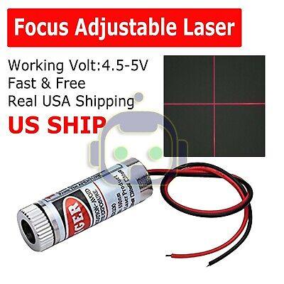 Focusable 5mw 650nm Red Cross Line Laser Module Focus Adjustable Laser Head