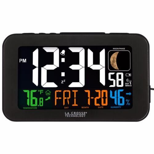 617-1485B La Crosse Technology Atomic Color Digital Alarm Clock USB Refurbished