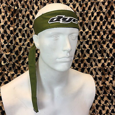 - NEW Dye Paintball Headband Protective Tying Head Band - Olive Green
