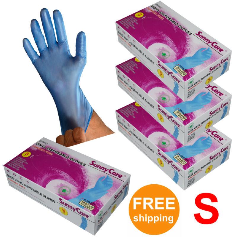 400pcs Blue Vinyl Disposable Gloves Powder Free (Latex Nitrile Free) Small Size