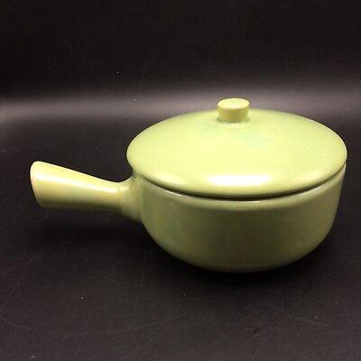 La Solana Green Covered Individual Casserole w Handle Soup Bowl Arizona Pottery for sale  Springfield