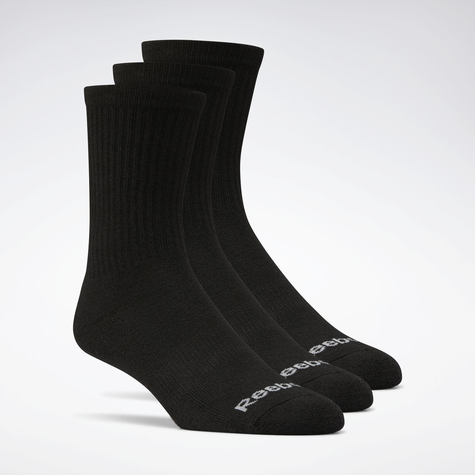 3 Pack Reebok Women/'s Crew Cut Socks