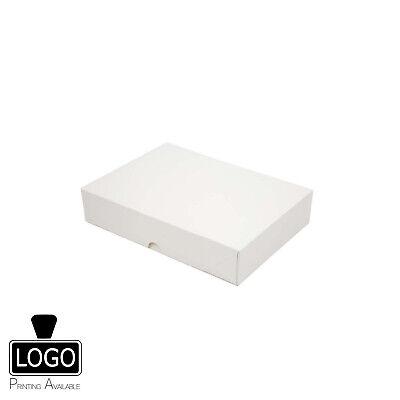 310x220x40mm WHITE A4 Shallow Magnetic Rigid Gift Box