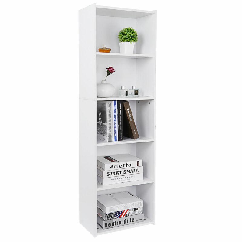 5 Tier Bookcase Bookshelf Storage Wall Shelf Organizer Unit Display Stand