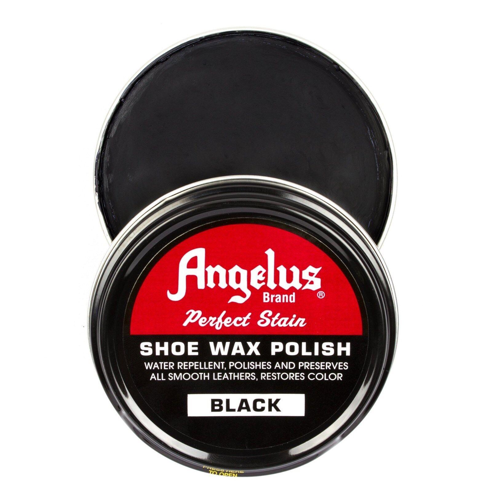 Angelus Shoe Wax Polish 3fl Oz BLACK NEW Clothing & Shoe Care