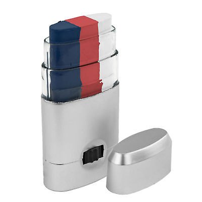 Red White Blue Face Paint Stick 3 Color US 4th July Independence Day - Halloween White Painted Face