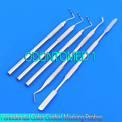 Heidman Composite Mixing Spatula Periodontal Color Coded Probes Pr-209